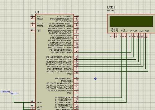 پروژه راه اندازی lcd متنی با میکروکنترلر lpc2138
