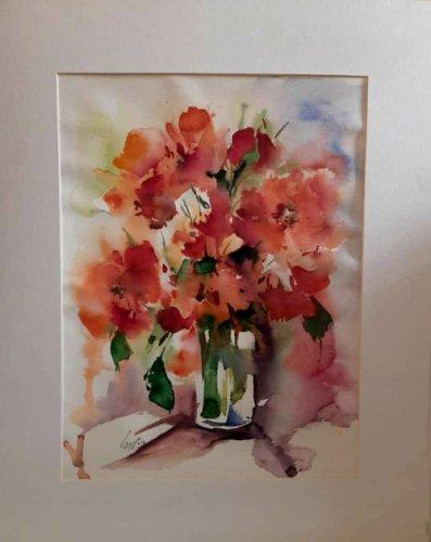 گلهای آبرنگی مینیمال ۱