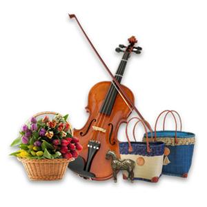 گل، صنایع دستی، آثار هنری و آلات موسیقی