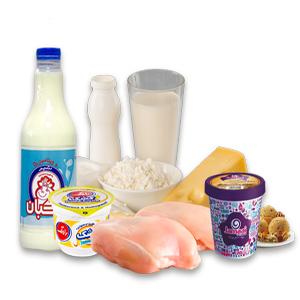 سوپرمارکت، خواربار، گوشت، لبنیات